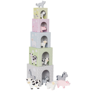 Farm Animal Stacking Cubes