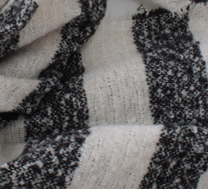 Soft Woven Stripe Scarf With Sequin Scatter