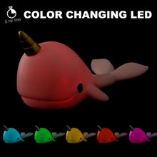 Load image into Gallery viewer, Pink Narwhal Medium Night Light