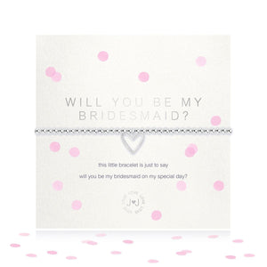 A Little Will You Be My Bridesmaid Silver Bracelet