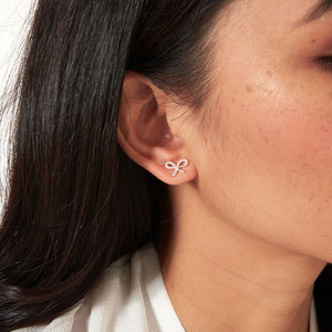 Joma Hello Lovely Boxed Bow Stud Earrings