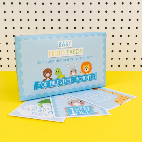 Tickle Baby Milestone Cards Blue