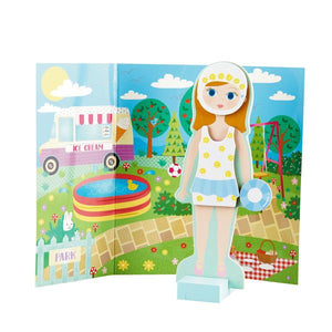 Elsie Wooden Magnetic Dress Up Doll