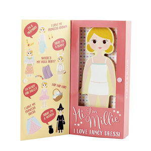 Millie Wooden Magnetic Dress Up Doll