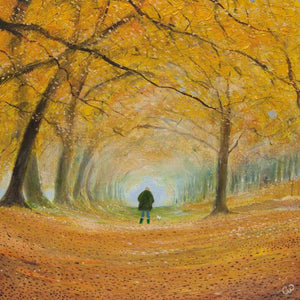 Autumn Walk Greetings Card By Chris Williamson