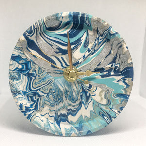 Jesmonite Blue Mantle Clock