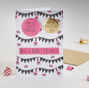 Paper Sole Bubbly Birthday Greetings Card