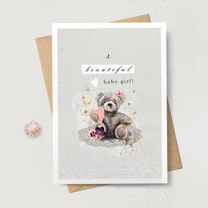 Stephanie Davies Greetings Card Baby Girl