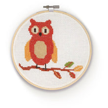 Load image into Gallery viewer, Woodland Owl Cross Stick Kitt