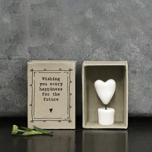 Matchbox Porcelain Heart Every Happiness For The Future