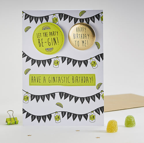 Paper Sole Gintastic Birthday Greetings Card