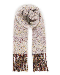 Sandie Knitted Scarf In Beige