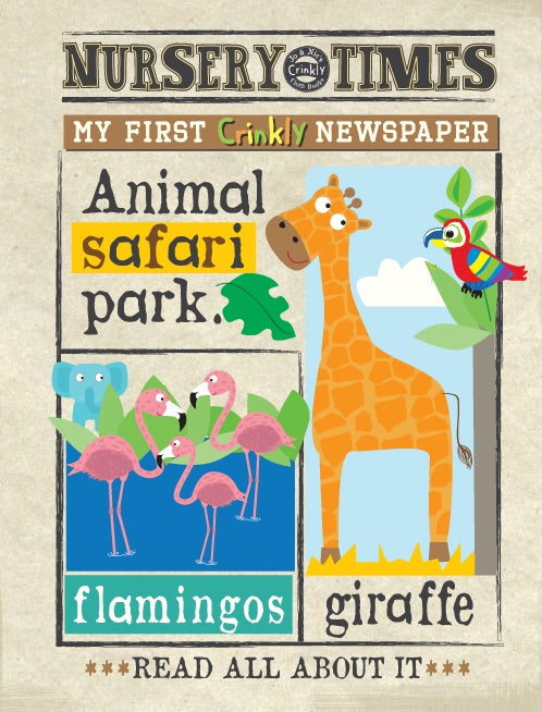Jo & Nic's Crinkly Cloth Books Safari