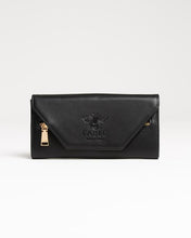 Load image into Gallery viewer, Fable England Primrose Black Large Purse