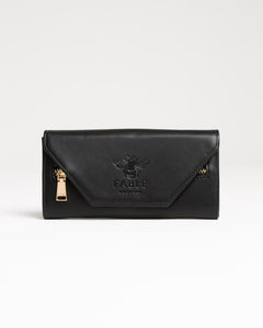 Fable England Primrose Black Large Purse