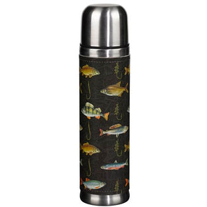 Fly Fishing Black Flask