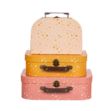 Load image into Gallery viewer, Little Stars Suitcases Set Of Three
