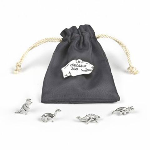 Silver Dinosaur Zoo Pouch