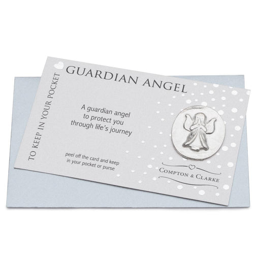 Guardian Angel Pewter Pocket Charm
