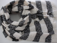 Load image into Gallery viewer, Soft Woven Stripe Scarf With Sequin Scatter
