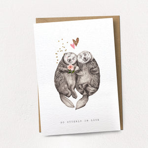 Stephanie Davies Greetings Card Otterly In Love