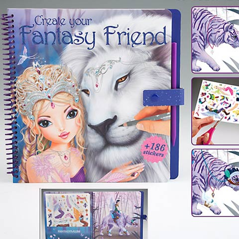 Top Model Fantasy Friend Colouring Book