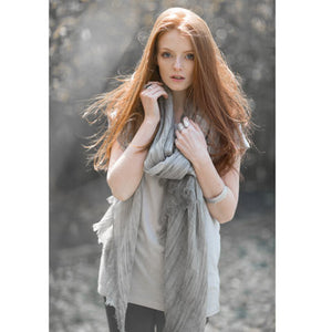 Stone Soft Striped Scarf