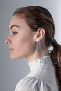Porcelain Cobalt Dusk Earrings