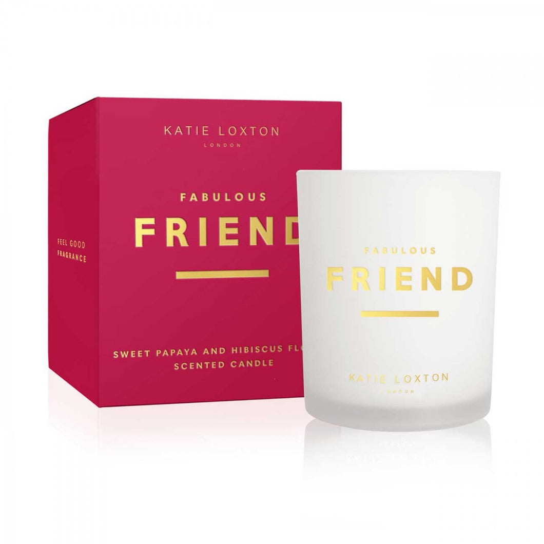 Katie Loxton Sentiment Candle Fabulous Friend