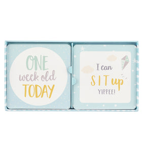 Baby Milestone Cards Blue
