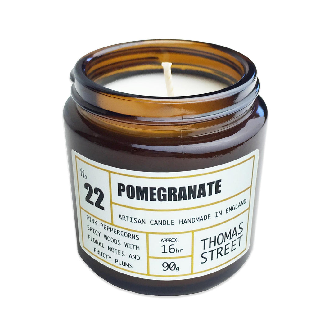 Thomas Street Apothecary Candle Jar 200g Pomegranate