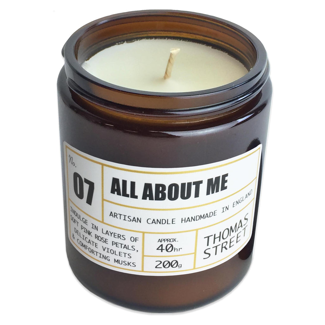 Thomas Street Apothecary Candle Jar 200g All About Me