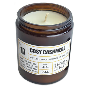 Thomas Street Apothecary Candle Jar 200g Cosy Cashmere