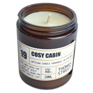 Thomas Street Apothecary Candle Jar 200g Cosy Cabin