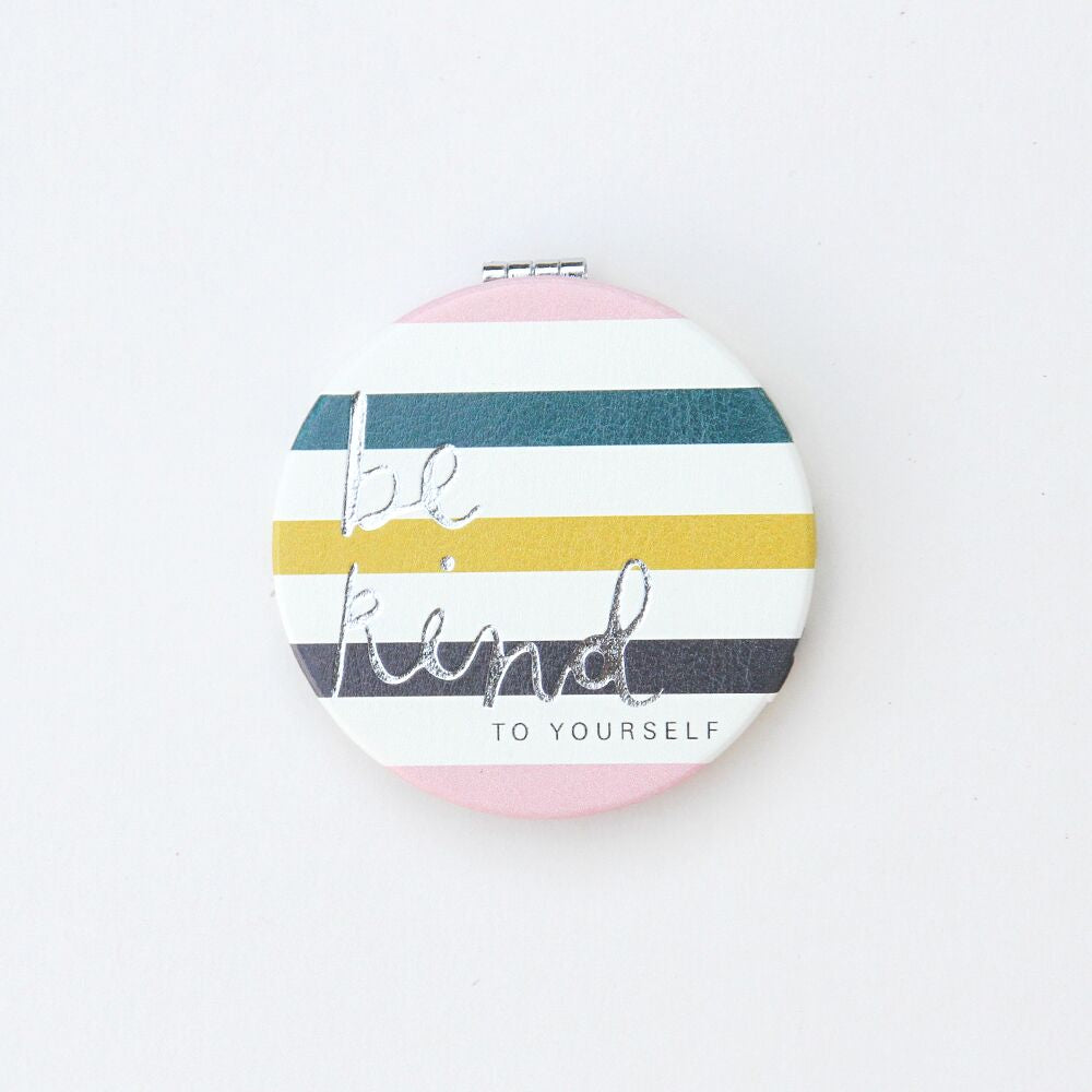 Be Kind Stripe Pocket Mirror