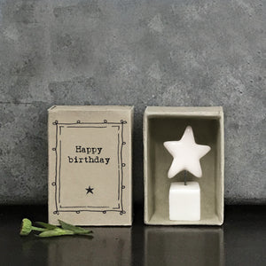 Matchbox Porcelain Star Happy Birthday