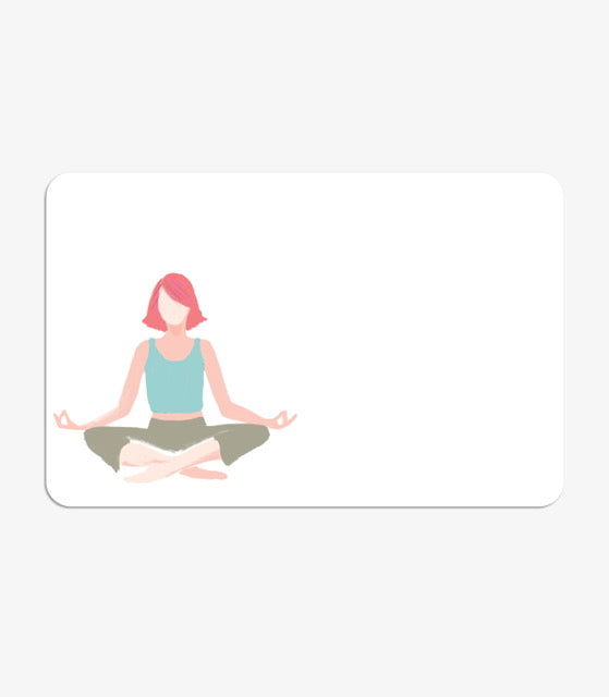 Thinklet's Pack Of Mini Message Cards Yoga Pose
