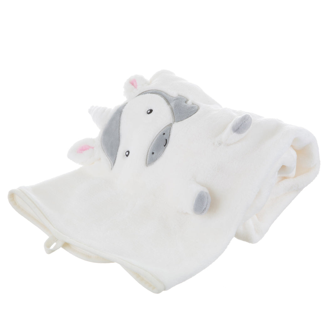 Evie Unicorn Soft Fleece Baby Blanket