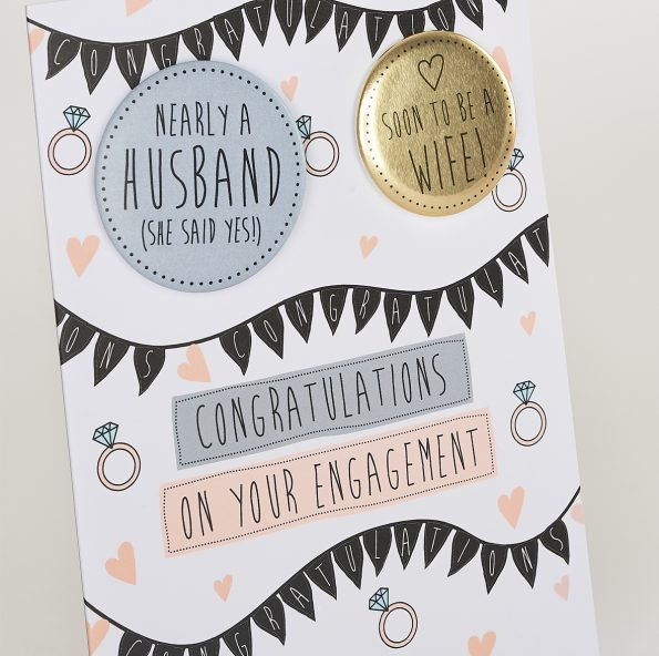 Congratulations On Your Engagement Greetings Card