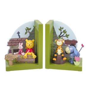 Winnie The Pooh Wooden Bookends