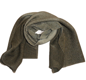 Waffle Style Dip Dyed Ladies Scarf Olive