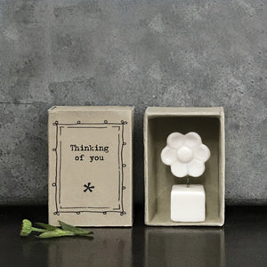 Matchbox Porcelain Flower Thinking Of You
