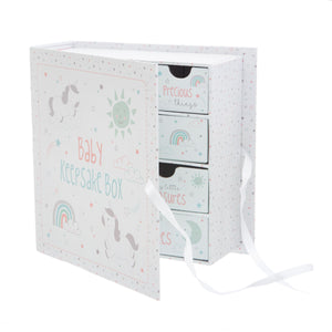 Baby Evie Unicorn Keepsake Box With Drawers