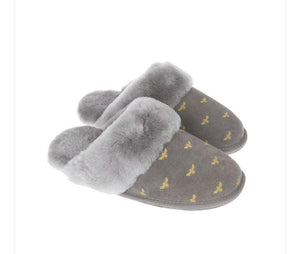 Bees Sheepskin Slippers