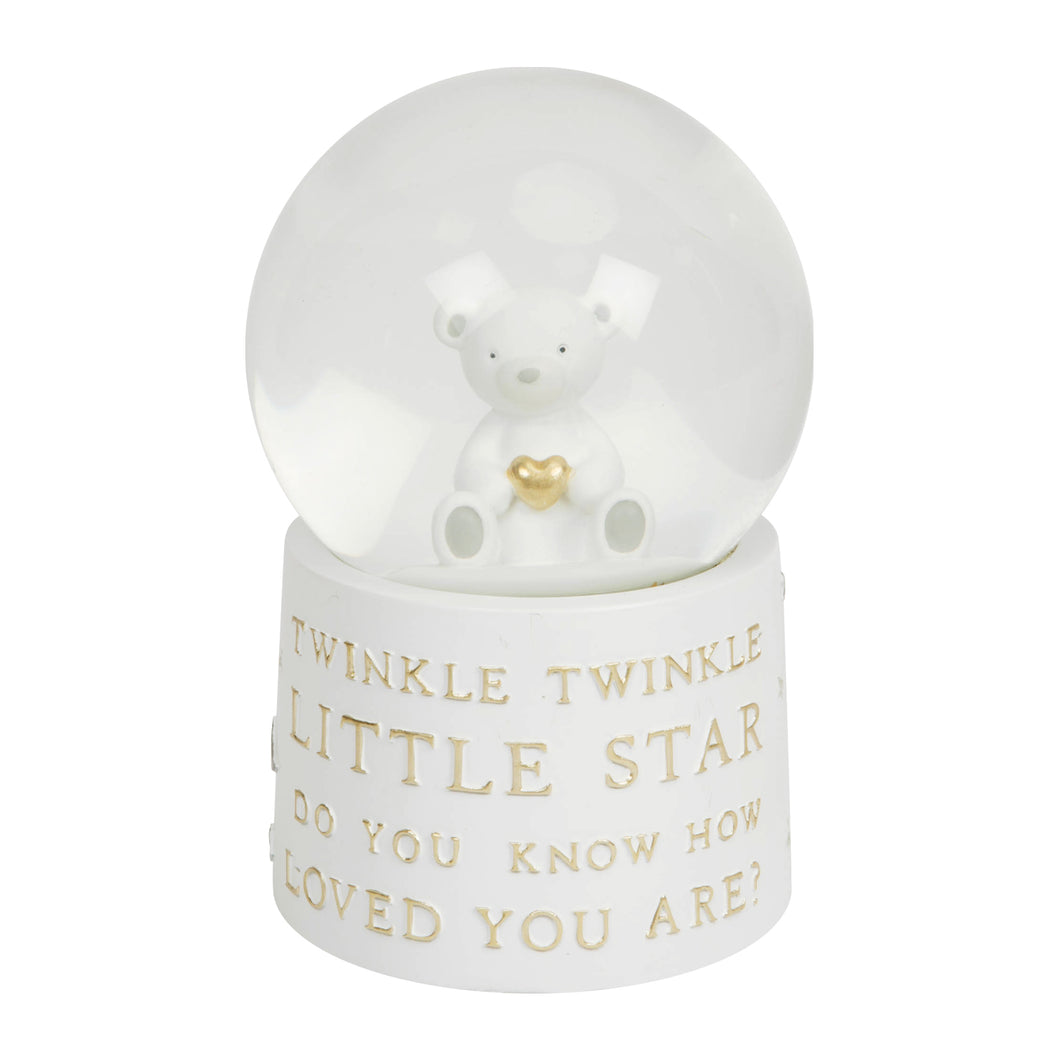 Bambino Teddy Bear Musical Snow Globe