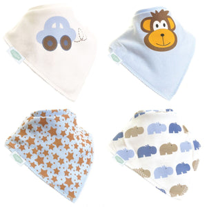 Box Of Four Bandana Dribble Bibs