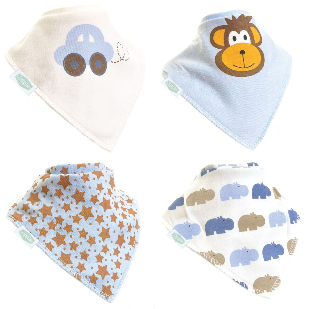 Ziggle Set Of Four Bandanna Dribble Bibs