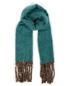 Sandie Knitted Scarf In Teal
