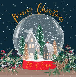 Luxury Boxed Christmas Cards Open Snow Globe