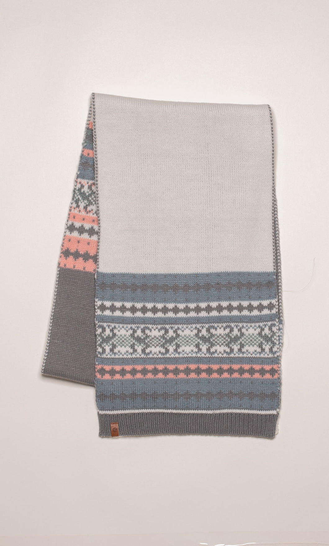 Brakeburn Fairisle Knit Ladies Scarf